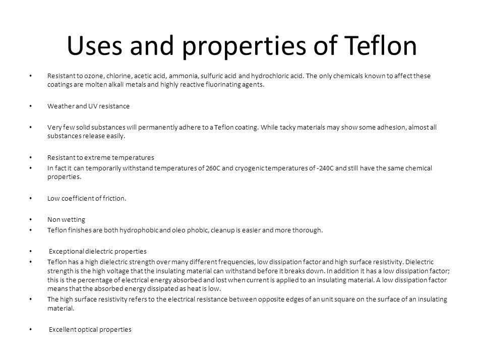 Teflon By Andrew Tucker IED  Evolution of Teflon  - ppt download