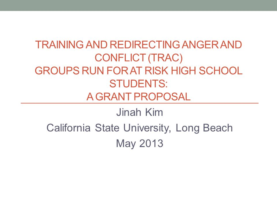 Training And Redirecting Anger And Conflict Trac Groups Run For At