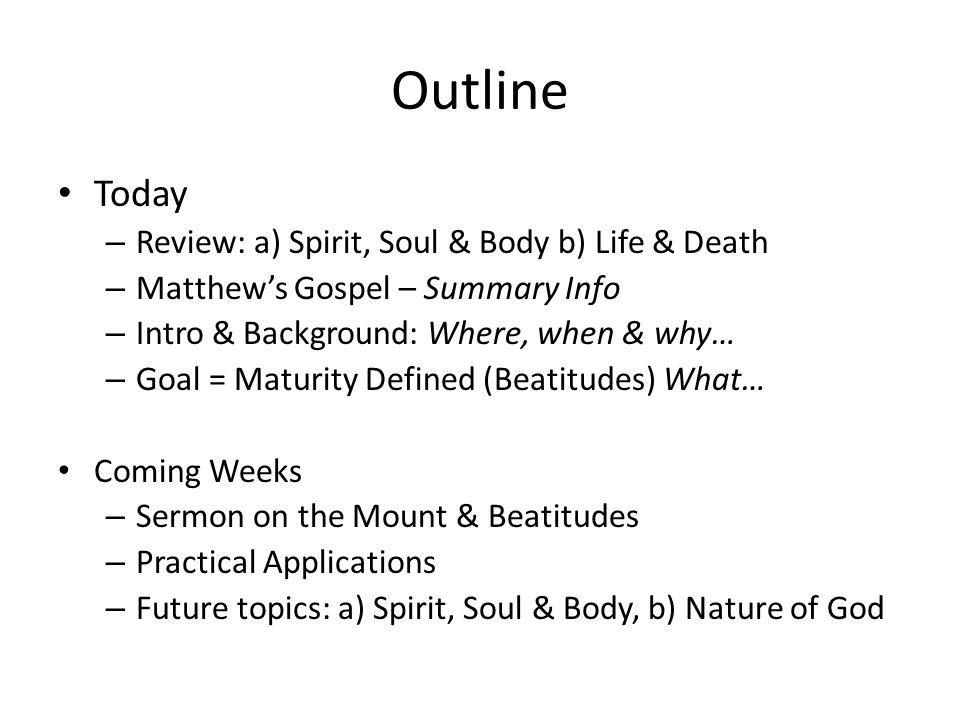 gospel outline