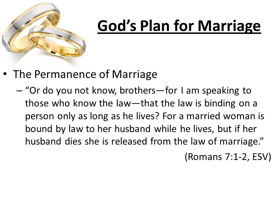 Permanence of marriage