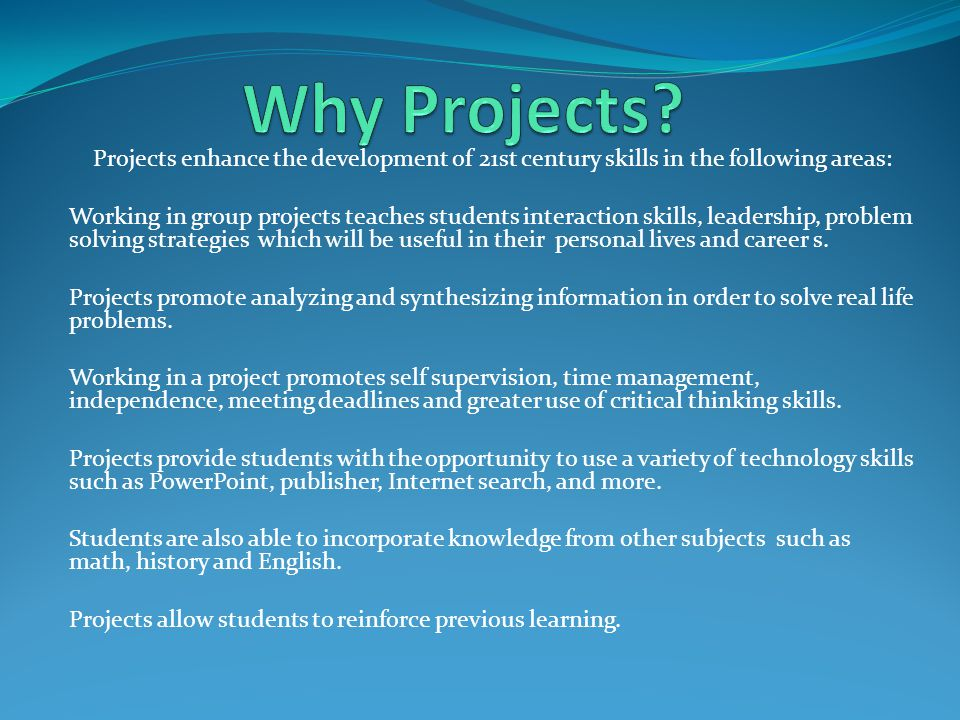 Prior to Beginning the Unit Questioning: provide a set of questions to students which starts them to brainstorm about their possible projects.