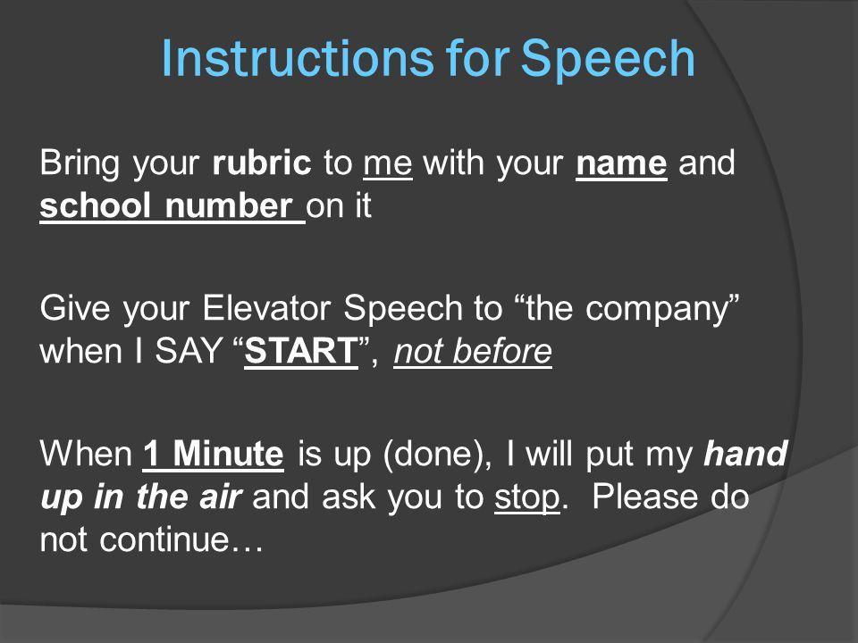 Business Speech and Presentation Ashton Converse Elevator Speeches
