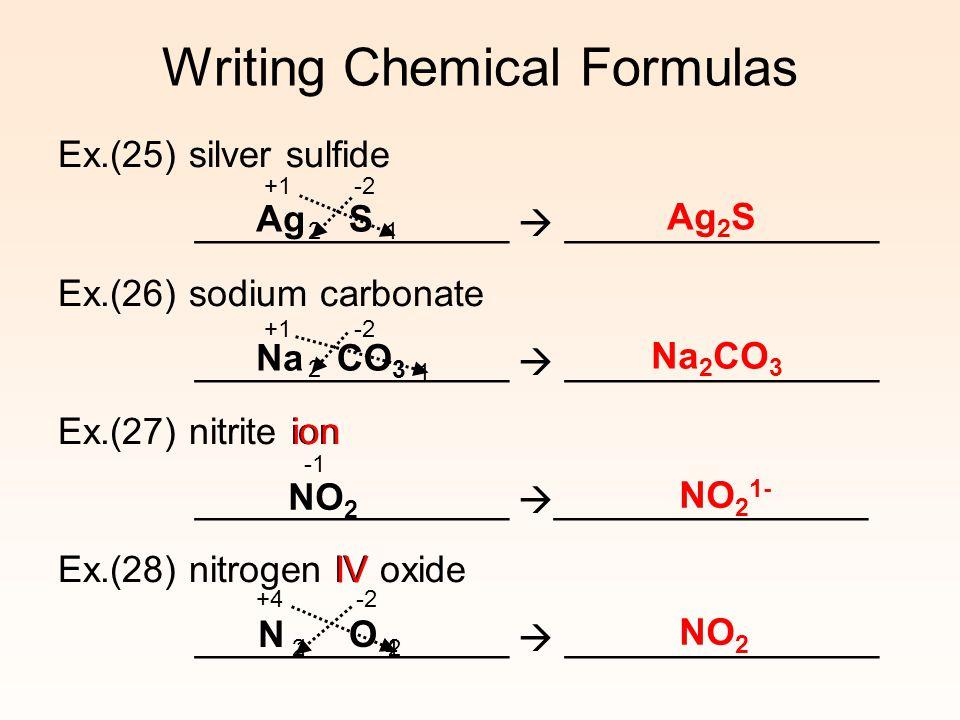 Writing Chemical Formulas Prefix System Mono 1 Di 2 Tri 3