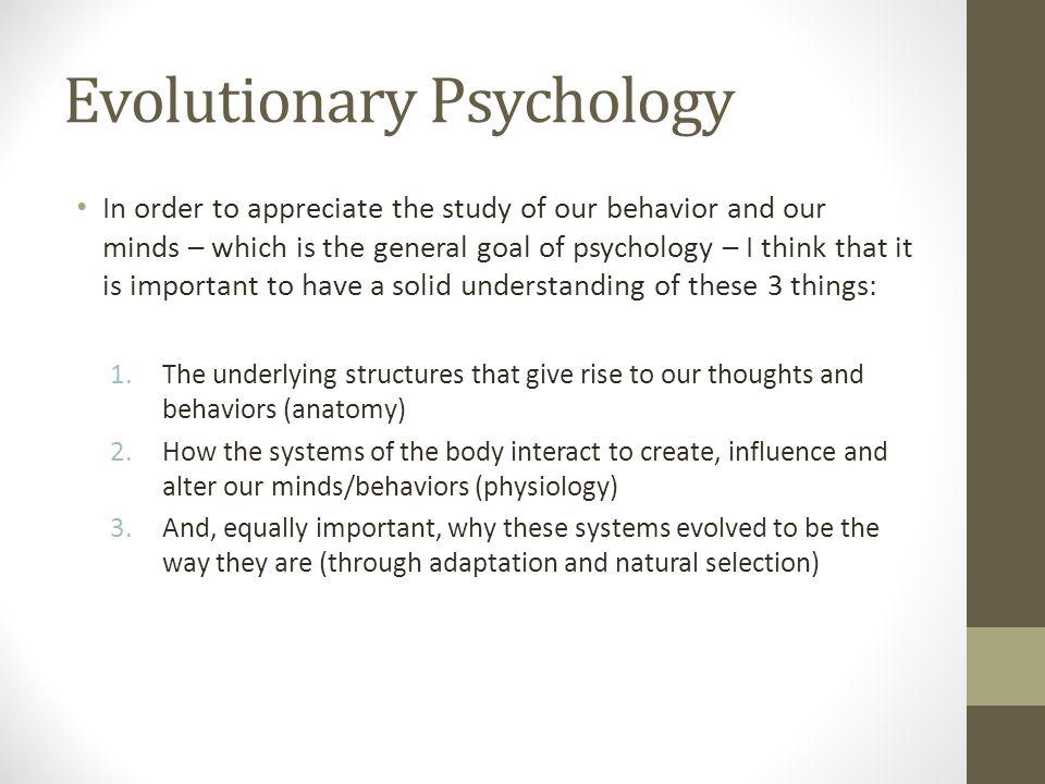 Evolutionary Psychology Of Sex And Behavior A Very Brief