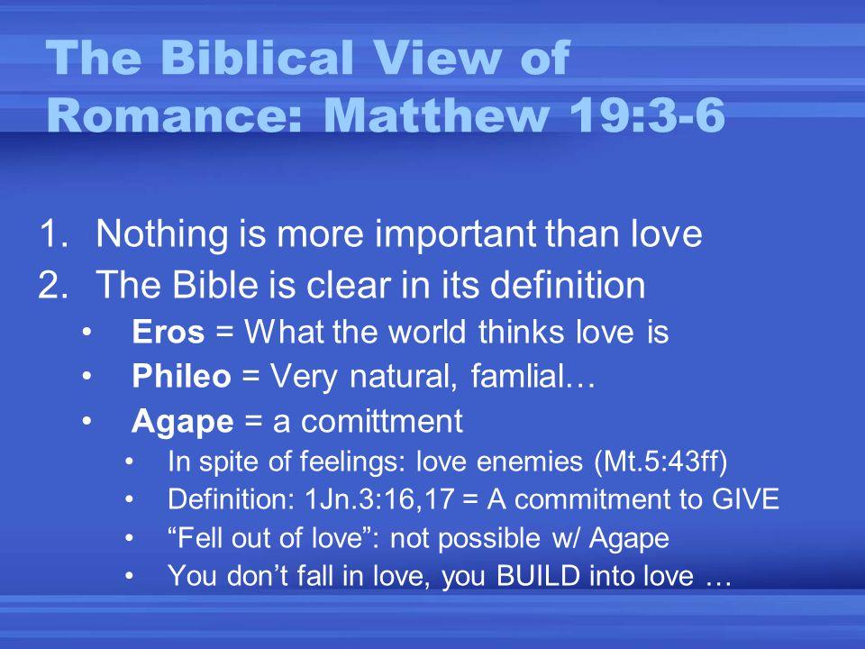 Love & Romance Biblical vs  Kosmos Views  Alternative Views