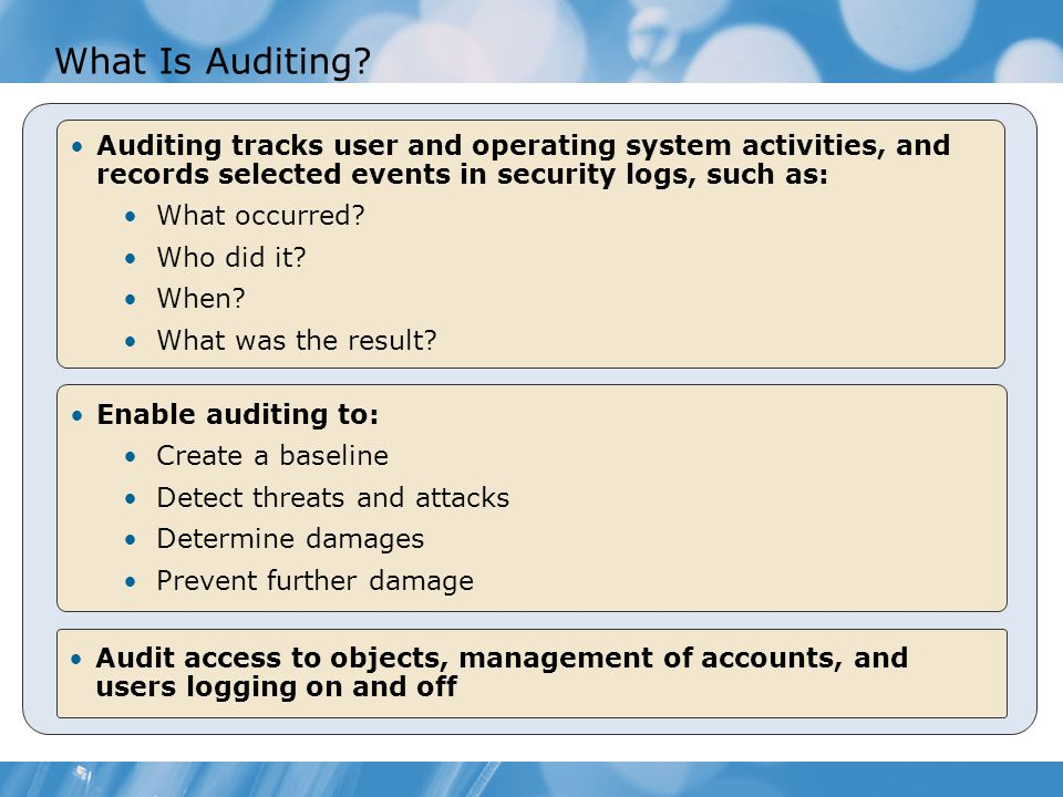 What Is Auditing.