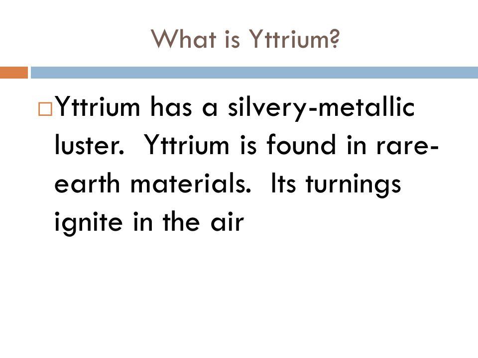 Titanium and yttrium by ariel white what is titanium titanium yttrium has a silvery metallic luster urtaz Choice Image