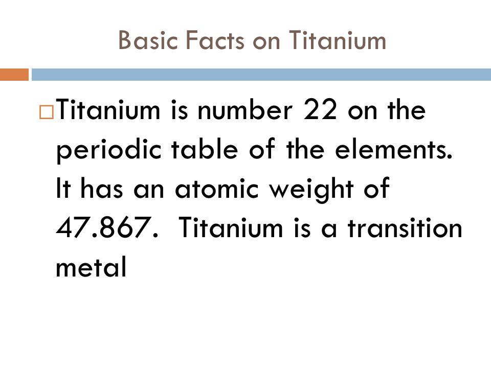 Titanium And Yttrium By Ariel White What Is Titanium Titanium