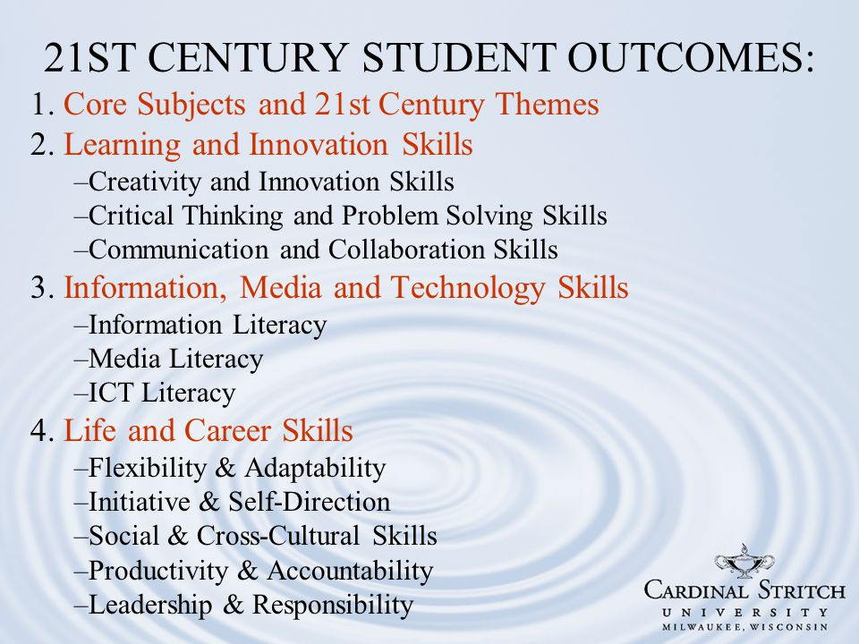 1. Core Subjects and 21st Century Themes 2.