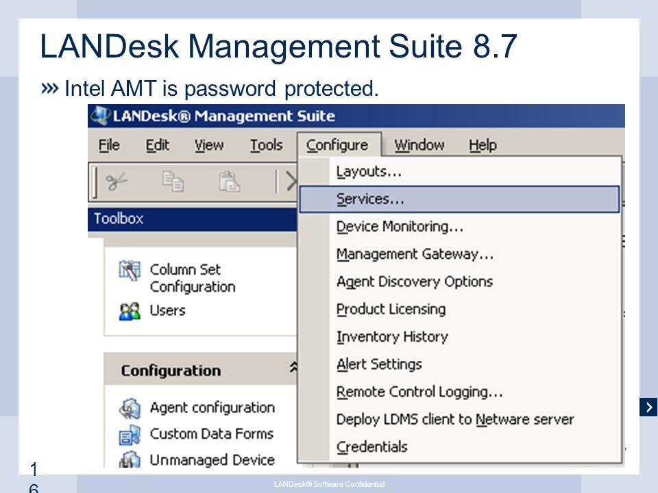 April WebEx Intel ® Active Management Technology (AMT