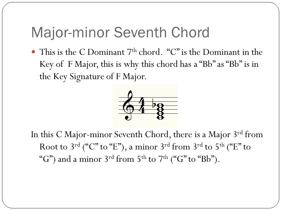 Ncvps Ap Music Theory Created By Dr Tom Moncrief What Is A Seventh