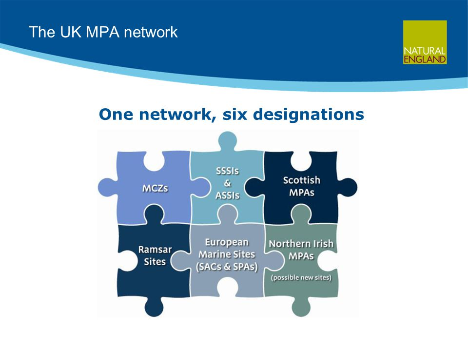 The UK MPA network One network, six designations