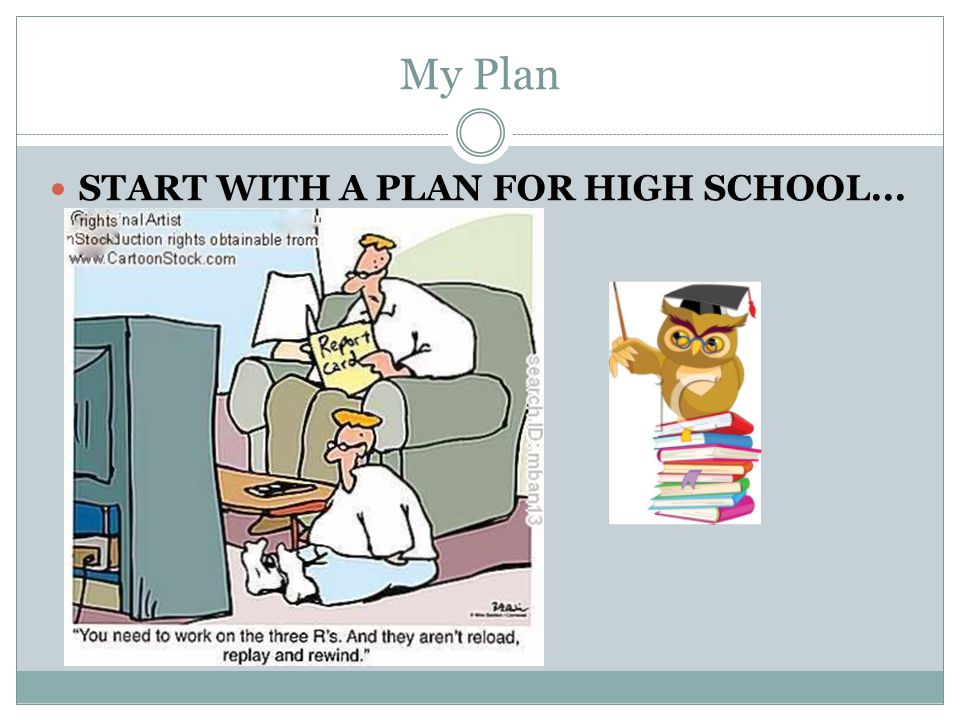 My Plan START WITH A PLAN FOR HIGH SCHOOL...