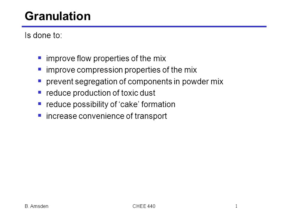 The Toxic Mix Of Segregation And >> Granulation Is Done To Improve Flow Properties Of The Mix