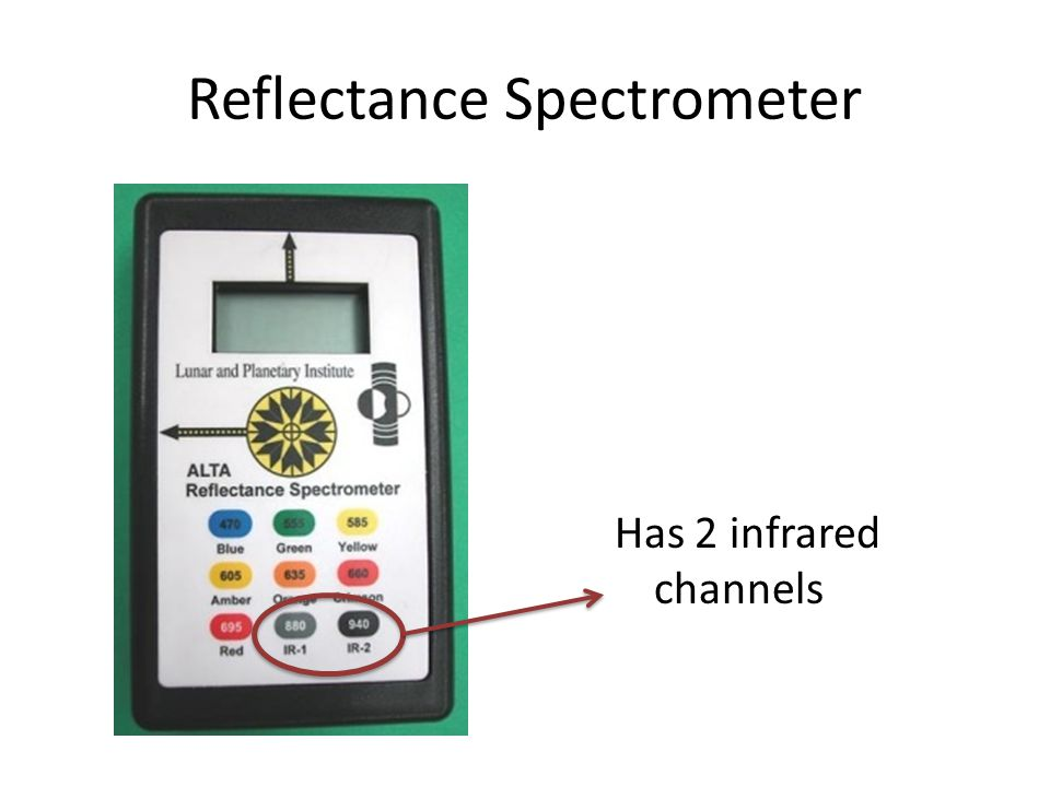 Reflectance Spectrometer Has 2 infrared channels