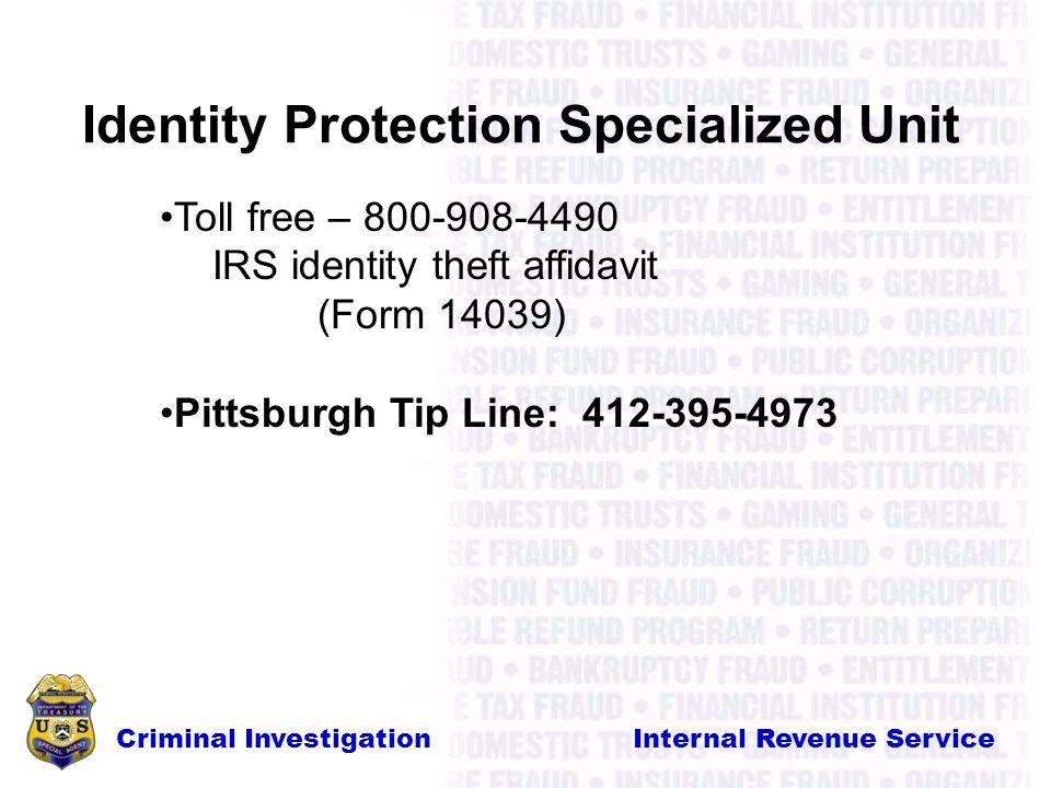 Criminal Investigation Internal Revenue Service Internal Revenue