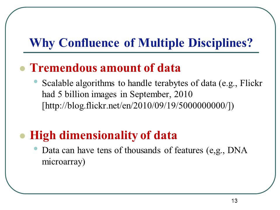 13 Why Confluence of Multiple Disciplines.