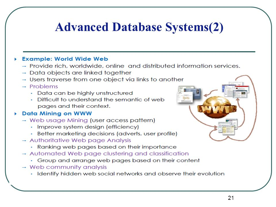 21 Advanced Database Systems(2)