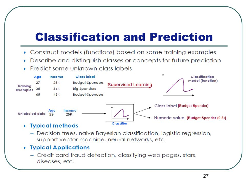 27 Classification and Prediction