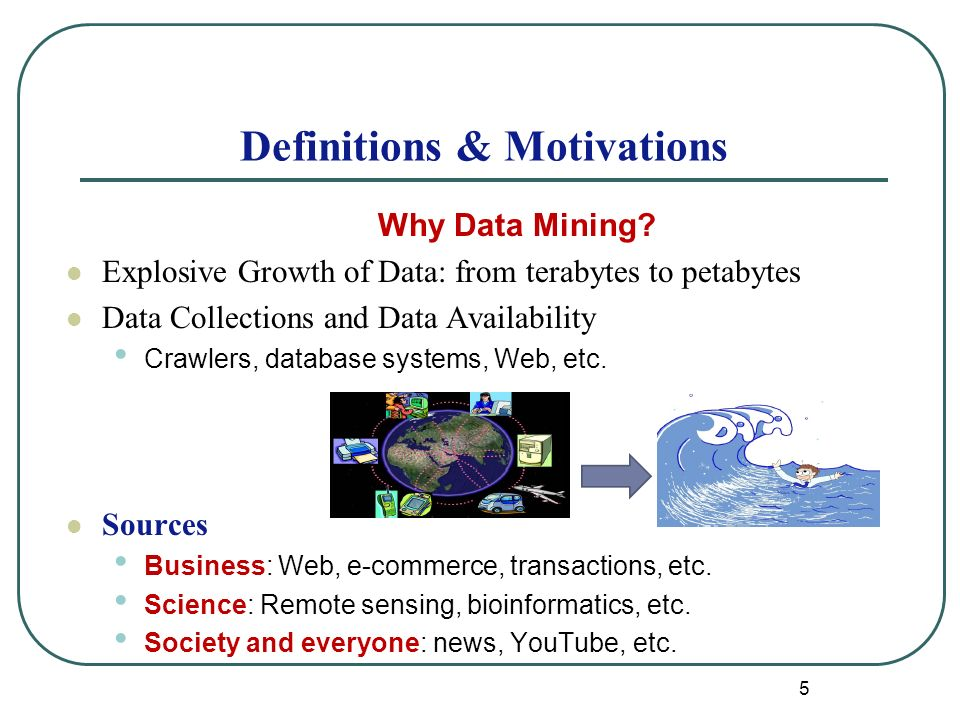 5 Definitions & Motivations Why Data Mining.