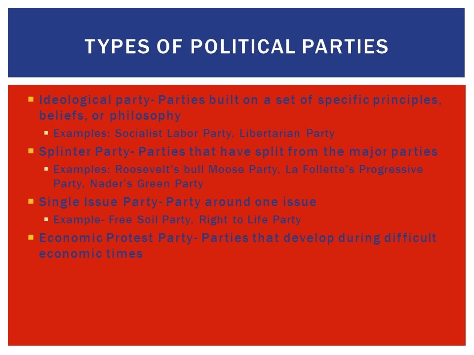 Chapter 5 Political Parties With A Partner Take A Moment To