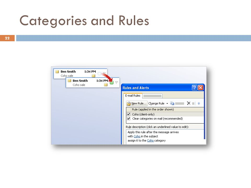 Categories and Rules 22