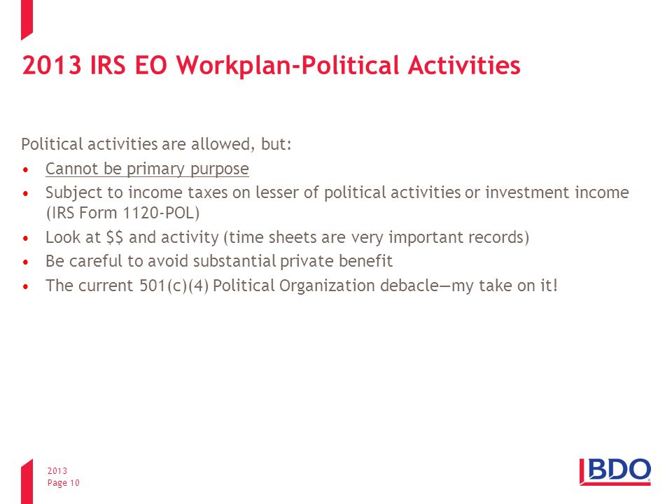 Irs Initiatives Whats Going On In Washington Mike Sorrells Bdo Usa