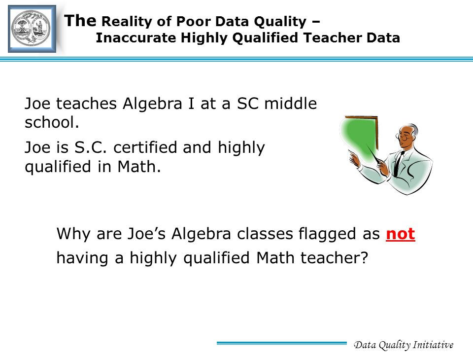 Data Quality Initiative Title Slidetitle Slide Achieving Quality