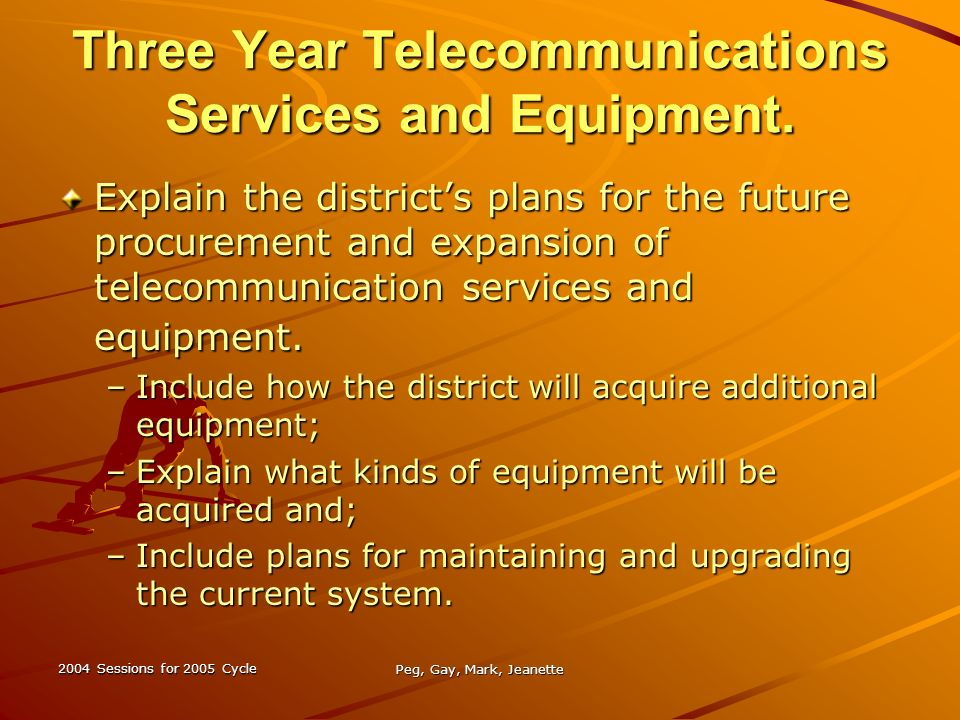 Technology Planning Why & How Sessions for 2005 Cycle Peg, Gay, Mark, Jeanette What is a Technology Plan? A long ranged plan outlining technology. - ppt download - 웹