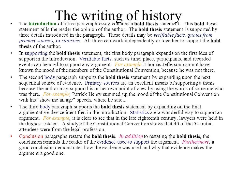 history essay format