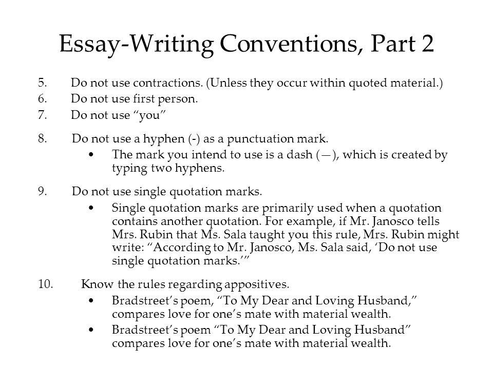 can i use first person in an essay