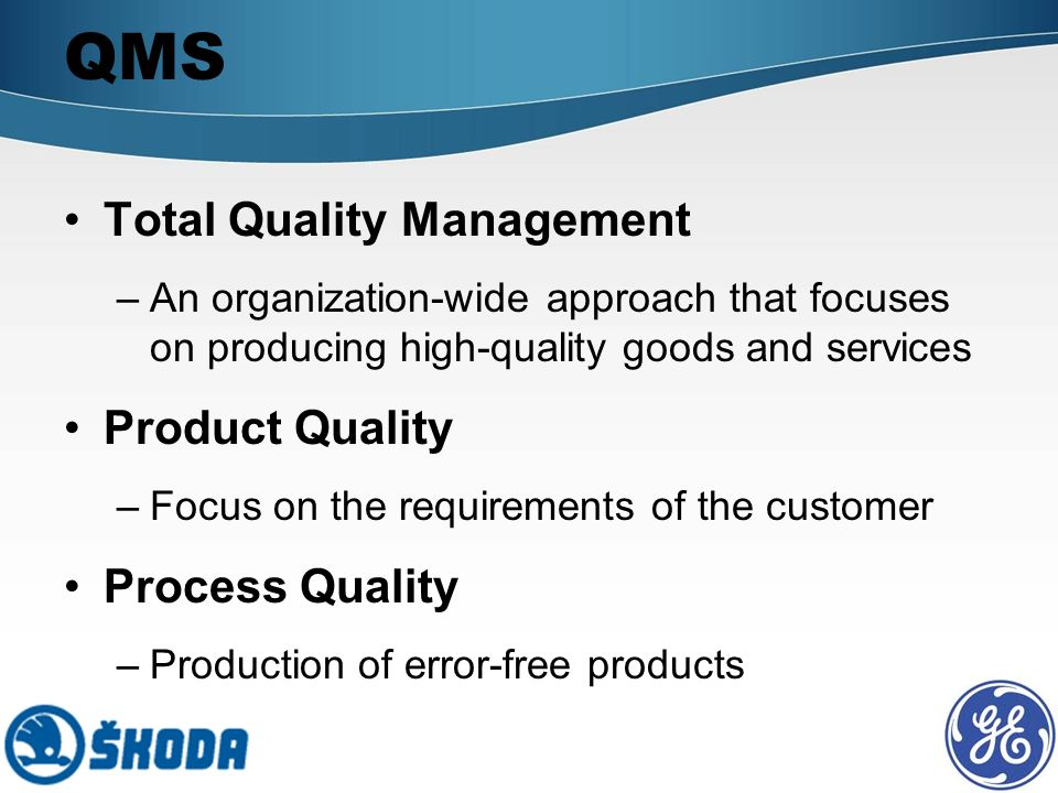 quality management organization Quality assurance principles require an organizational structure that links responsibility for quality directly to the executive level of the company.