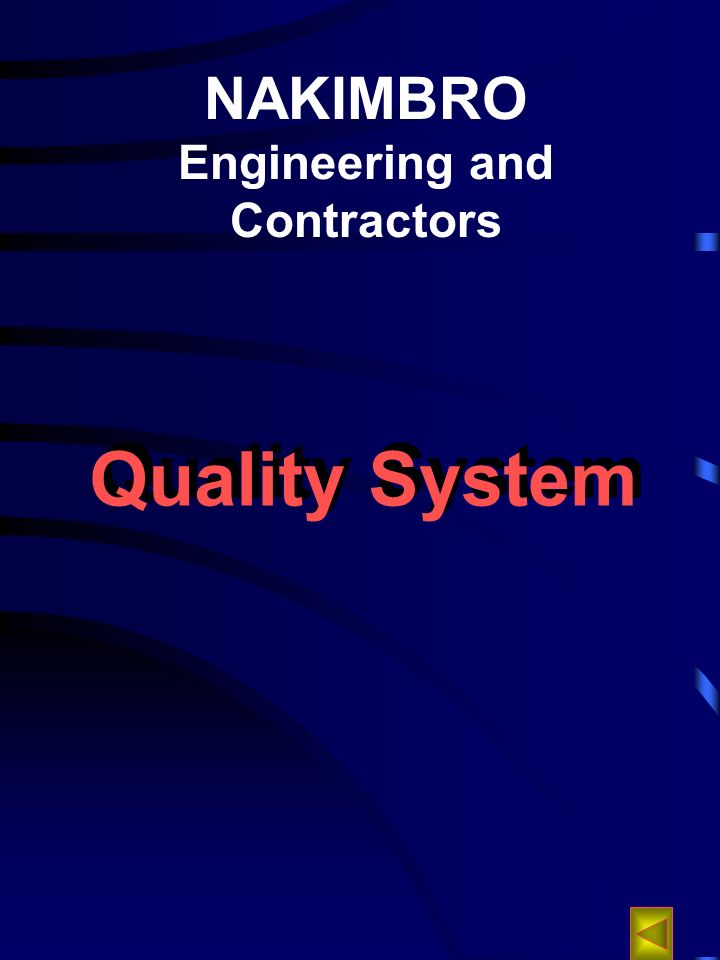NAKIMBRO Engineering and Contractors Quality System