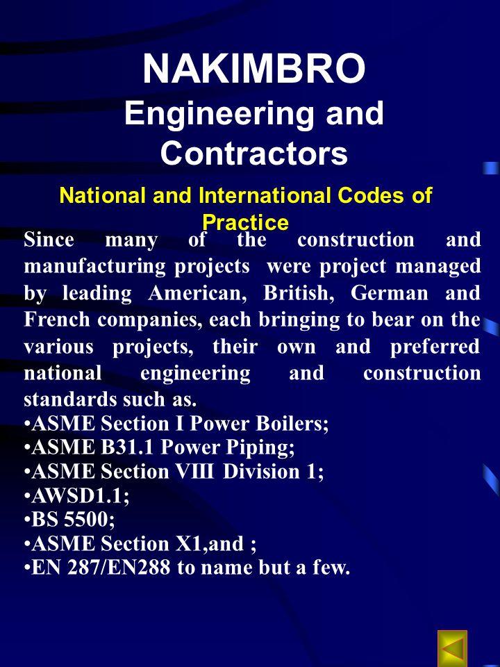 NAKIMBRO Engineering and Contractors COMPANY PROFILE COMPANY