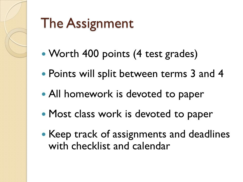 research paper assignments