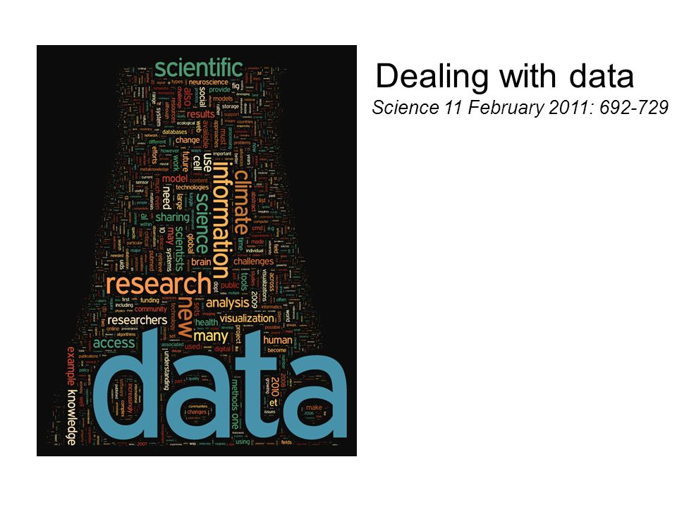 Dealing with data Science 11 February 2011: