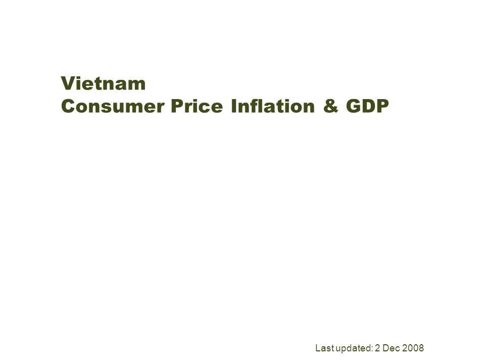5 Vietnam Consumer Price Inflation GDP Last Updated 2 Dec 2008
