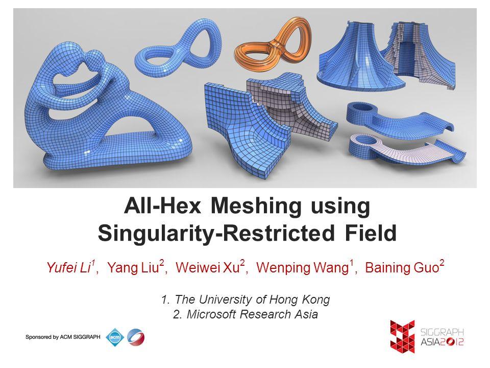 All-Hex Meshing using Singularity-Restricted Field Yufei Li 1, Yang
