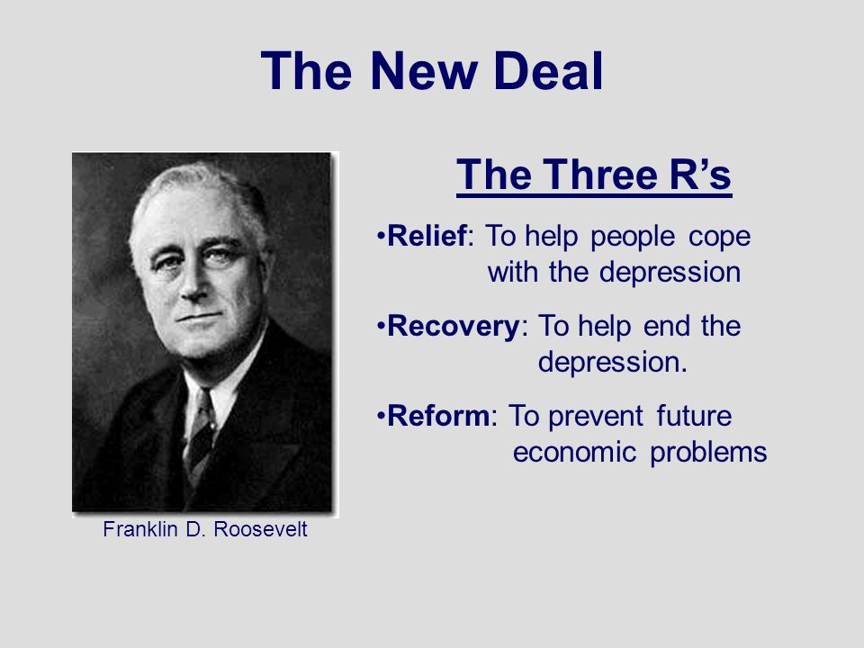 fdr three rs essay