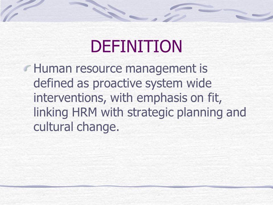 human resource management interventions