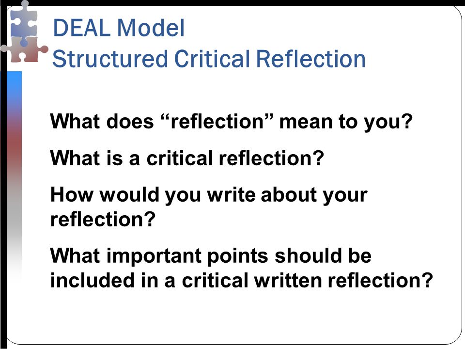 what does it mean to write a reflection