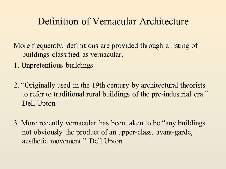 Vernacular Definition