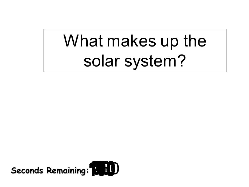 Seconds Remaining: What makes up the solar system