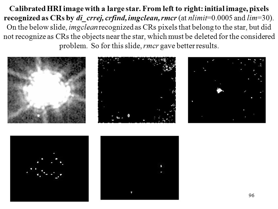Calibrated HRI image with a large star.