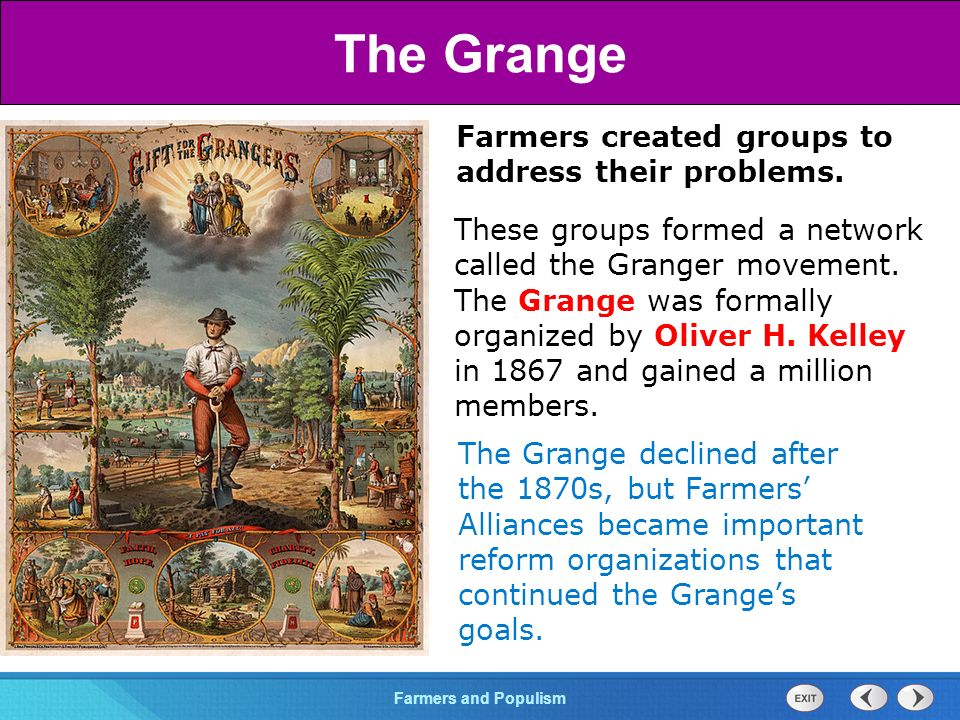 Chapter 25 Section 1 The Cold War BeginsFarmers and Populism Section 3 Farmers created groups to address their problems.