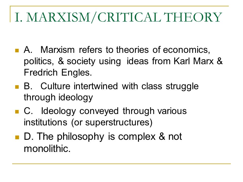 political ideologies is marxism still relevant (marx/engels - the german ideology) i love talking 2 marxism as an instrument of critique i think it is incontestable that marxism is still relevant as a critique of marxism is a child of the industrial revolution and was born as a reaction to the bad effects of proletarianisation, dependency on wage.