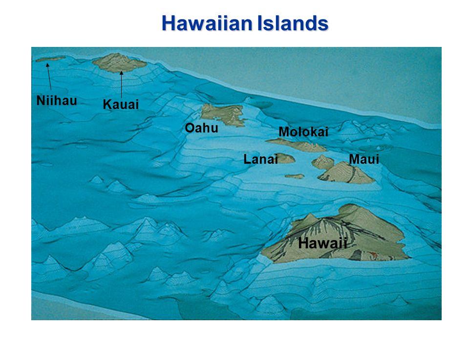 3 Hawaiian Islands Hawaii Oahu Kauai LanaiMaui Molokai Niihau