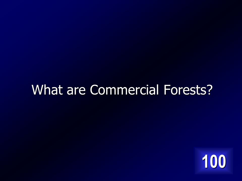 Type of forest that has large trees and is close to markets. Answer…