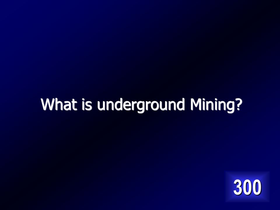 Type of mining that is used to extract mineral ores located deep in the earth. Answer…