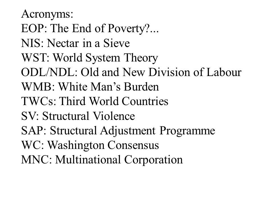 structural adjustment program in third world countries
